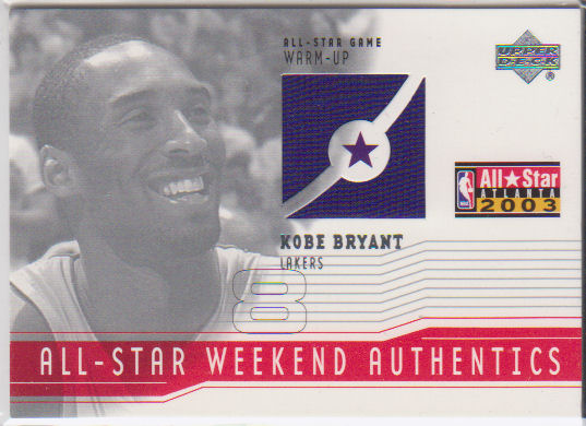 2003-04 Upper Deck All-Star Weekend Authentics #ASKB Kobe Bryant