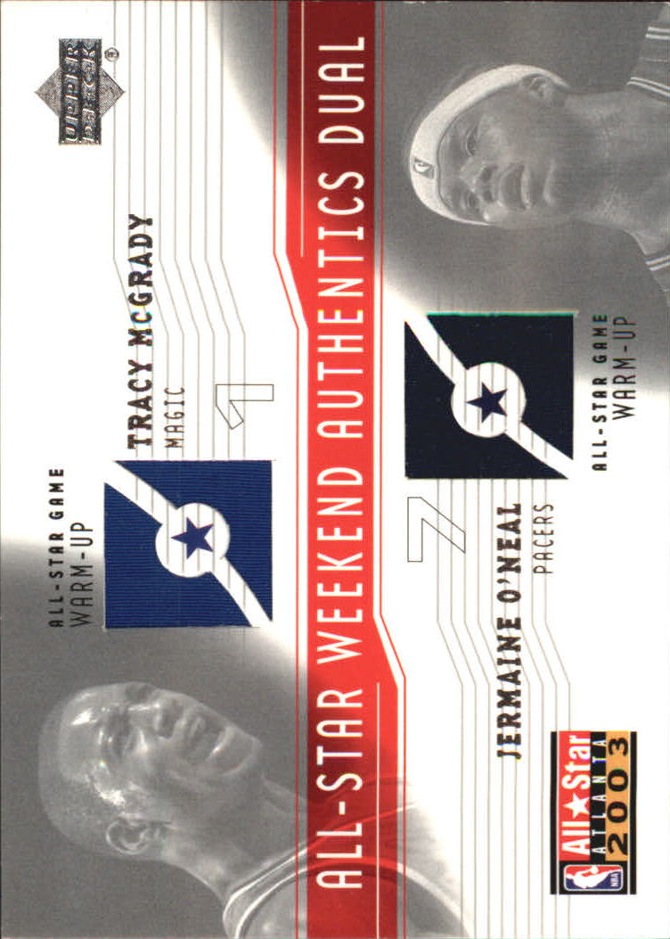 2003-04 Upper Deck All-Star Weekend Authentics Dual #TMJO Tracy McGrady/Jermaine O'Neal