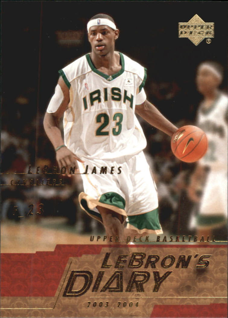 2003-04 Upper Deck LeBron's Diary #LJ1 LeBron James