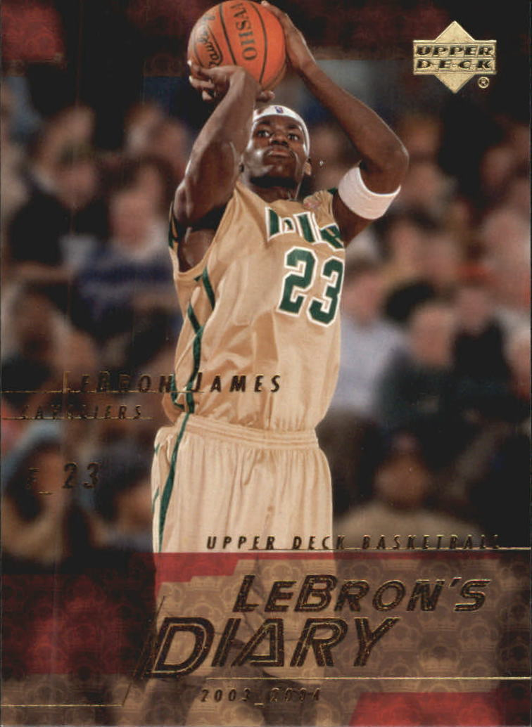 2003-04 Upper Deck LeBron's Diary #LJ3 LeBron James