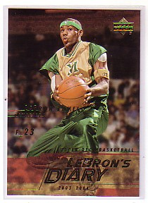 2003-04 Upper Deck LeBron's Diary #LJ4 LeBron James
