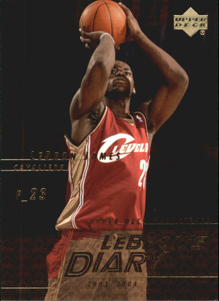 2003-04 Upper Deck LeBron's Diary #LJ12 LeBron James