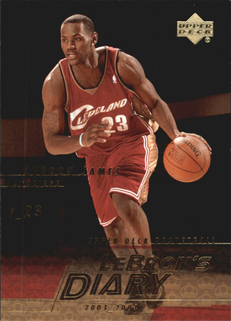 2003-04 Upper Deck LeBron's Diary #LJ14 LeBron James