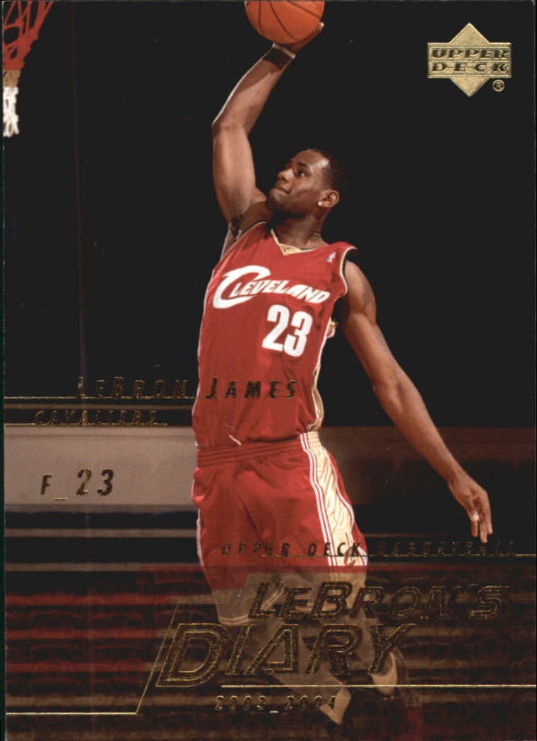 2003-04 Upper Deck LeBron's Diary #LJ15 LeBron James