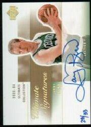 2003-04 Ultimate Collection Signatures Gold #LB Larry Bird/33