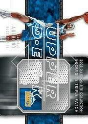 2003-04 Exquisite Collection Patches Triple #CA Carmelo Anthony