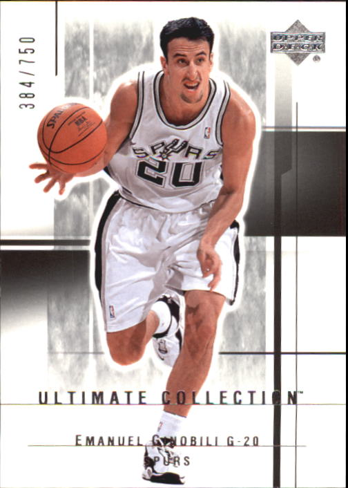 2003-04 Ultimate Collection #97 Manu Ginobili