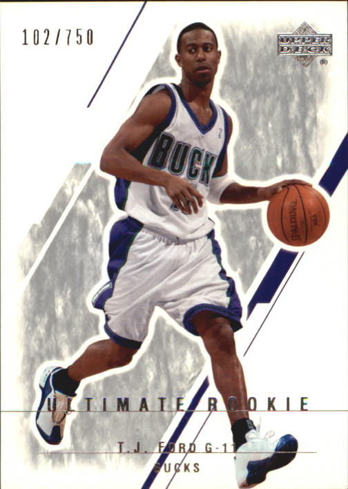 2003-04 Ultimate Collection #117 T.J. Ford RC