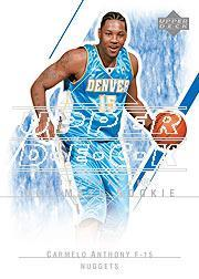 2003-04 Ultimate Collection #129 Carmelo Anthony AU RC