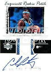 2003-04 Exquisite Collection #76 Carmelo Anthony JSY AU RC