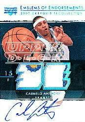 2003-04 Exquisite Collection Emblems of Endorsement #CA Carmelo Anthony