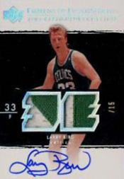 2003-04 Exquisite Collection Emblems of Endorsement #LB Larry Bird