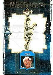 2003-04 Exquisite Collection Extra Exquisite Duals #CA Carmelo Anthony