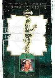 2003-04 Exquisite Collection Extra Exquisite Duals #LB Larry Bird