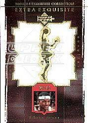 2003-04 Exquisite Collection Extra Exquisite Duals #LJ LeBron James