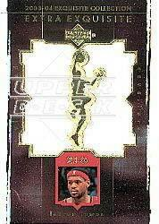 2003-04 Exquisite Collection Extra Exquisite Duals #LJ1 LeBron James