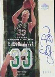 2003-04 Exquisite Collection Number Piece Autographs #LB Larry Bird/33