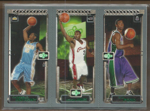 2003-04 Topps Rookie Matrix #AJF Carmelo Anthony 113 RC/LeBron James 111 RC/T.J. Ford 118 RC