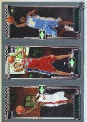 2003-04 Topps Rookie Matrix #JKA LeBron James 111 RC/Chris Kaman 116 RC/Carmelo Anthony 113 RC