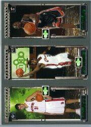 2003-04 Topps Rookie Matrix #MJW Darko Milicic 112 RC/LeBron James 111 RC/Dwyane Wade 115 RC front image
