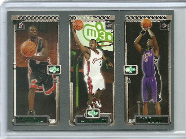 2003-04 Topps Rookie Matrix #WJB Dwyane Wade 115 RC/LeBron James 111 RC/Chris Bosh 114 RC