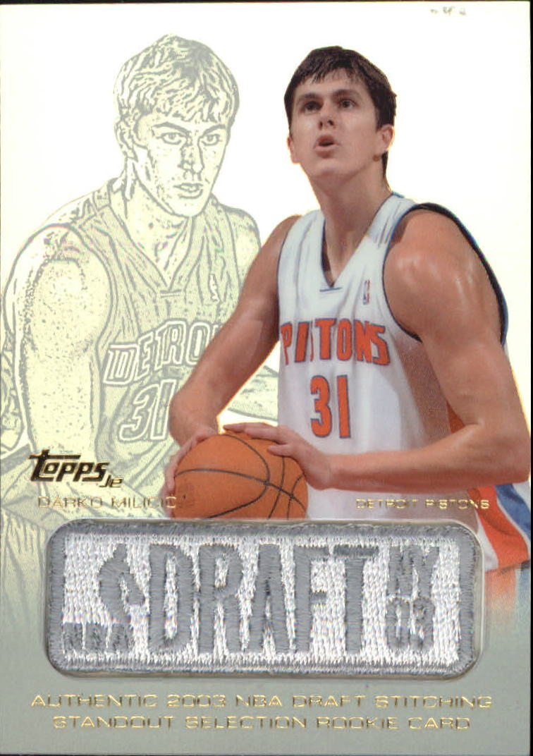 2003-04 Topps Jersey Edition #DAM Darko Milicic SS RC