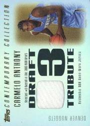 2003-04 Topps Contemporary Collection Draft 03 Tribute #CA Carmelo Anthony front image