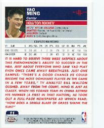 2003-04 Topps Chrome #11 Yao Ming back image