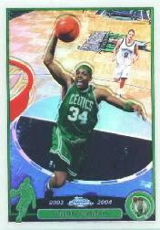2003-04 Topps Chrome Refractors #14 Paul Pierce