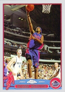 2003-04 Topps Chrome Refractors #46 Richard Hamilton