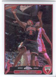 2003-04 Topps Chrome Refractors #108 Eddy Curry