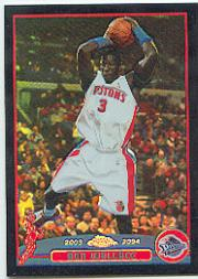 2003-04 Topps Chrome Refractors Black #30 Ben Wallace