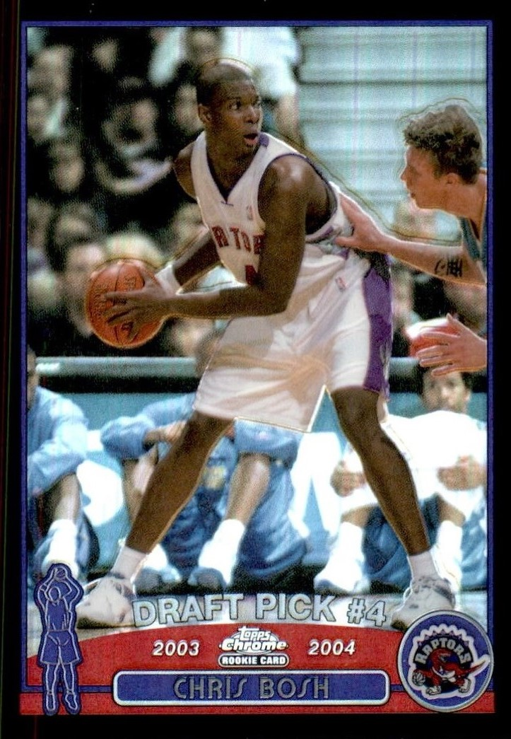 2003-04 Topps Chrome Refractors Black #114 Chris Bosh