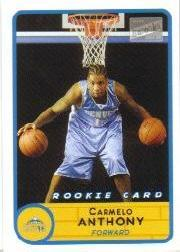 2003-04 Bazooka #240B Carmelo Anthony White RC