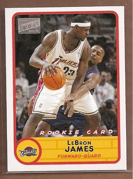 2003-04 Bazooka Mini #223A LeBron James