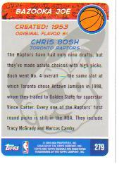 2003-04 Bazooka Mini #279 Chris Bosh BAZ back image