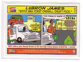 2003-04 Bazooka Comics #15 LeBron James