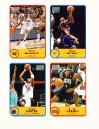 2003-04 Bazooka Four on One Stickers #2 Tracy McGrady/Kobe Bryant/Vince Carter/Allen Iverson