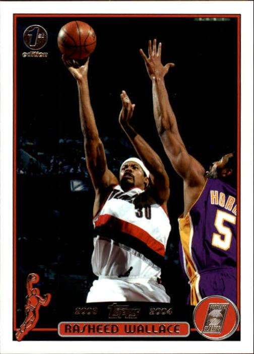2003-04 Topps First Edition #92 Rasheed Wallace