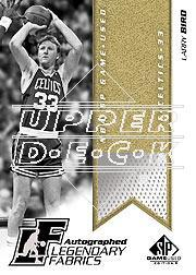 2003-04 SP Game Used Legendary Fabrics Autographs #3 Larry Bird