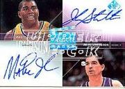 2003-04 SP Signature Edition Marquee Marks #JS Magic Johnson/75/John Stockton