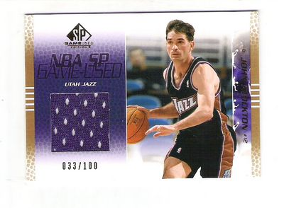 2003-04 SP Game Used Gold #88 John Stockton JSY