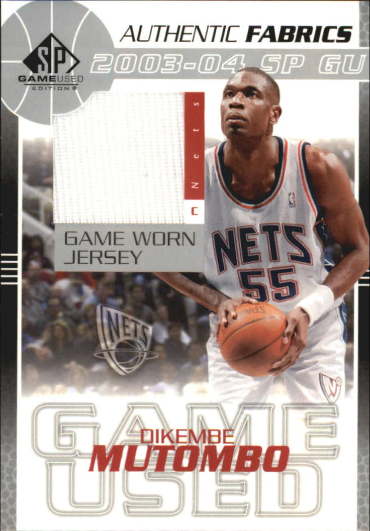 2003-04 SP Game Used Authentic Fabrics #DMJ Dikembe Mutombo