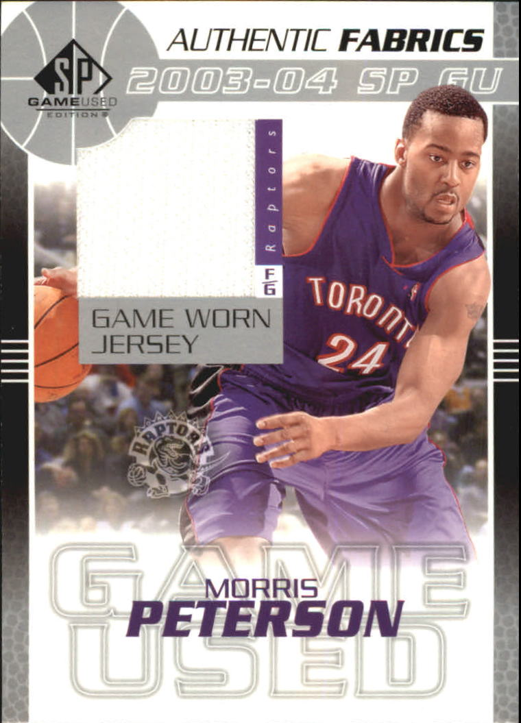 2003-04 SP Game Used Authentic Fabrics #MPJ Morris Peterson