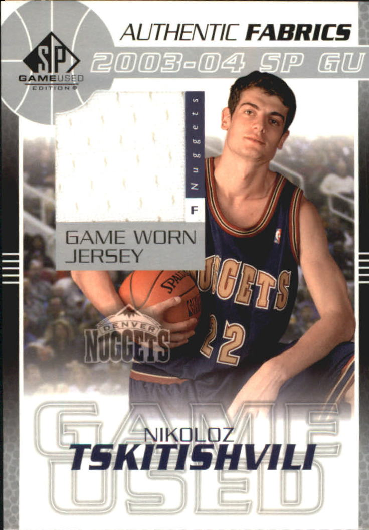 2003-04 SP Game Used Authentic Fabrics #NTJ Nikoloz Tskitishvilli