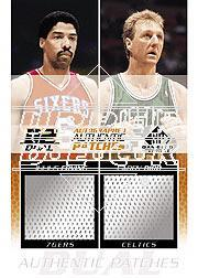 2003-04 SP Game Used Authentic Fabrics Dual Autographs #45 Julius Erving/15/Larry Bird