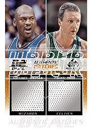 2003-04 SP Game Used Authentic Patches Dual #5 Michael Jordan/Larry Bird