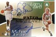 2003-04 SP Game Used Extra SIGnificance Gold #MJLB Michael Jordan/Larry Bird