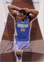 2003-04 SP Authentic #150 Carmelo Anthony AU RC