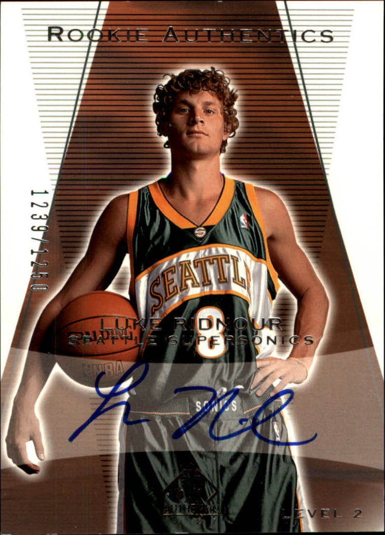 2003-04 SP Authentic #158 Luke Ridnour AU RC
